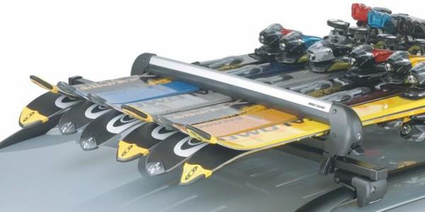 Крепление для перевозки лыж на крыше Рено Дастер